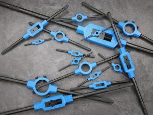 Übersichtsbild GSR Silver Haltewerkzeuge alle Größen: Windeisen und Schneideisenhalter